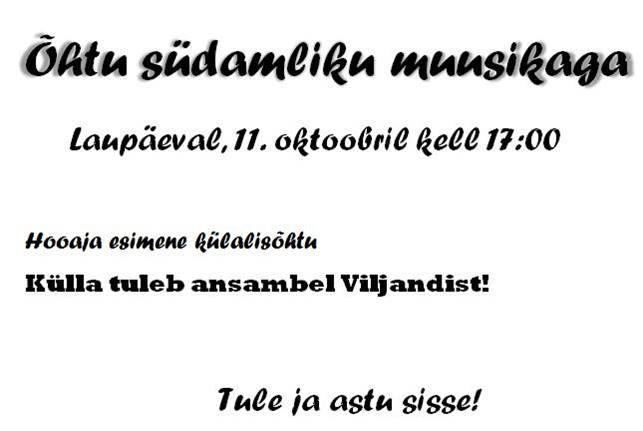 Külalisteõhtu - Viljandi (11.10.2014)